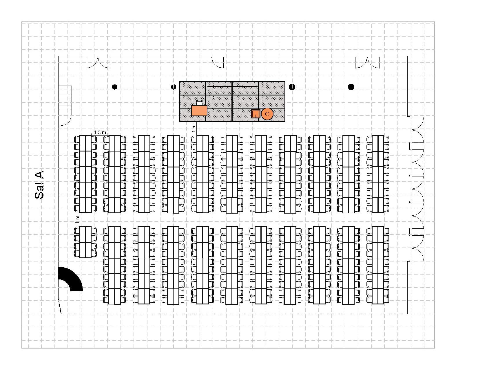 Bankett langbord 428 plasser