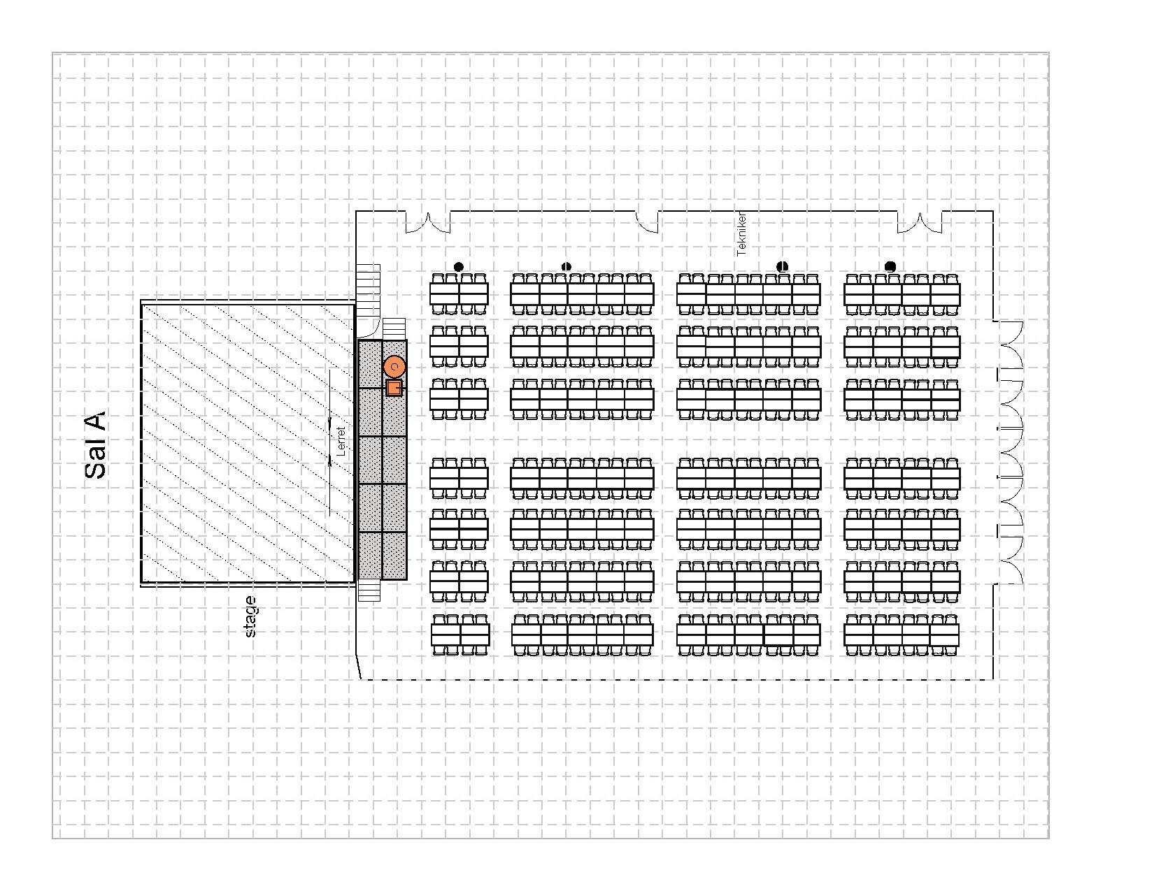Bankett langbord 448 plasser