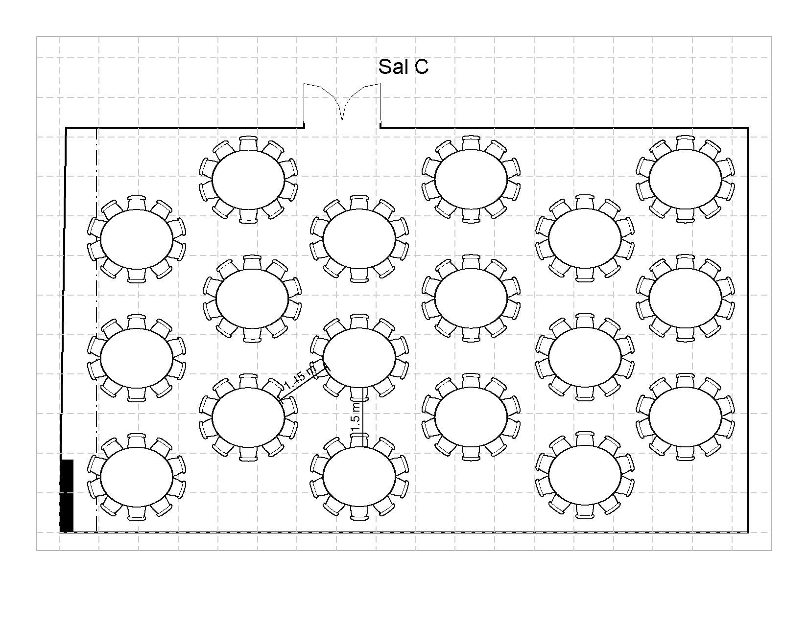 Bankett runde bord 180 plasser