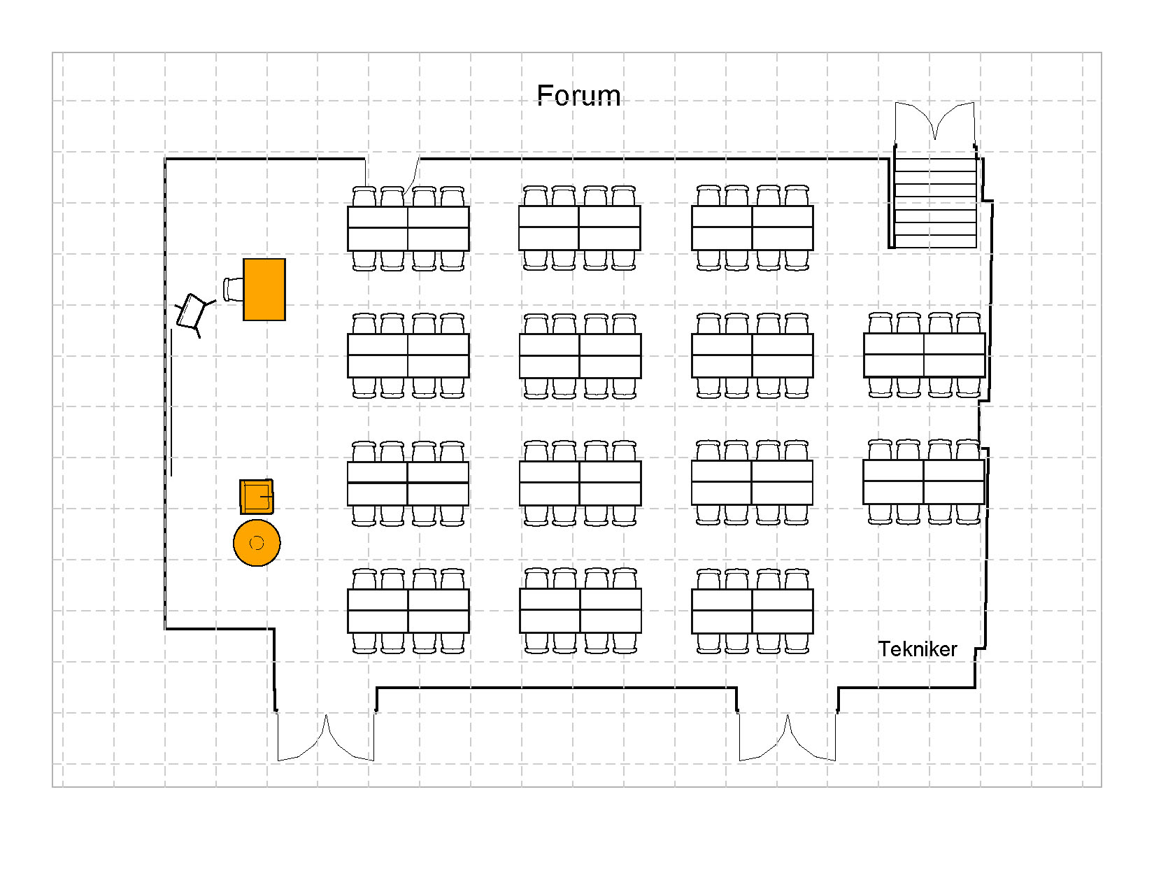8 mannsbord, 112 plasser