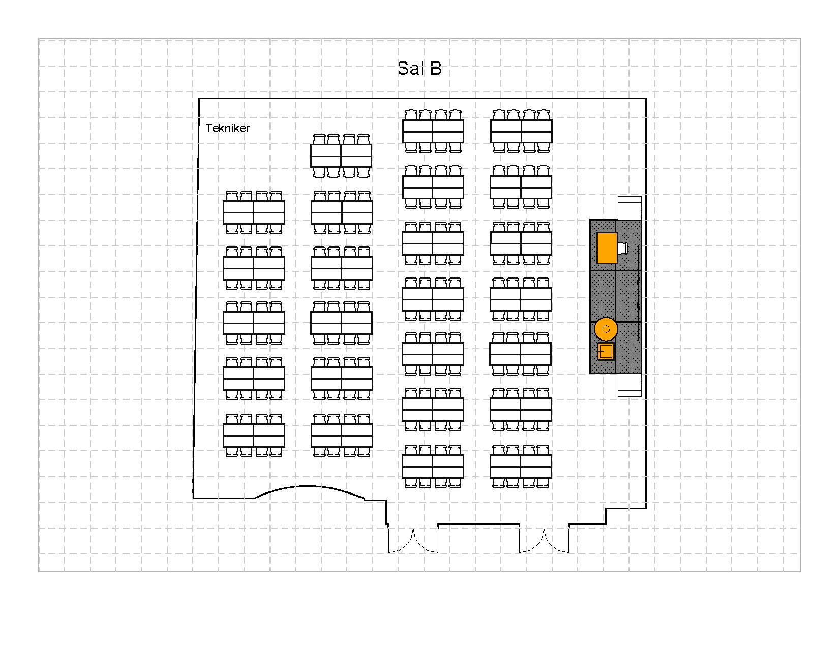 Gruppebord à 8, 200 plasser