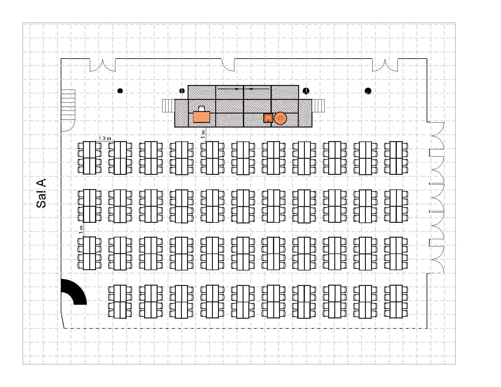 Gruppebord, 344 plasser