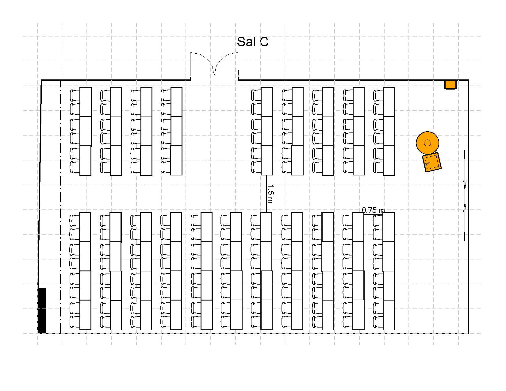 Klasserom 142 plasser