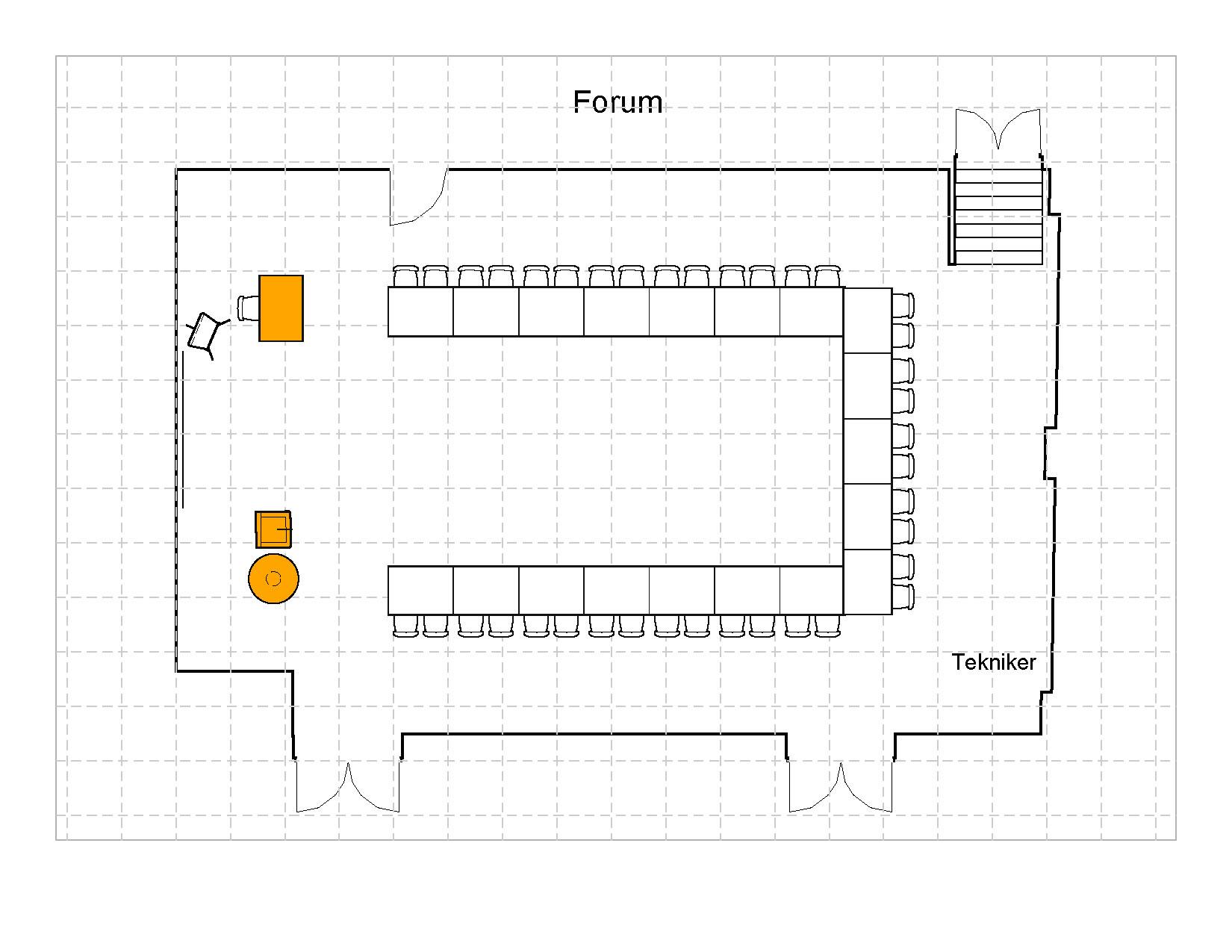 U- bord 38 plasser