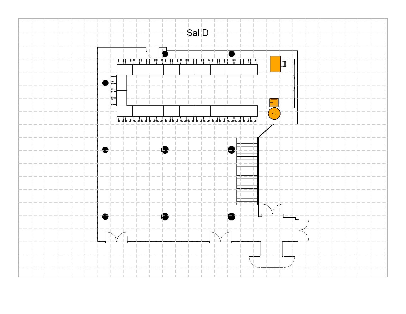 U- bord 40 plasser