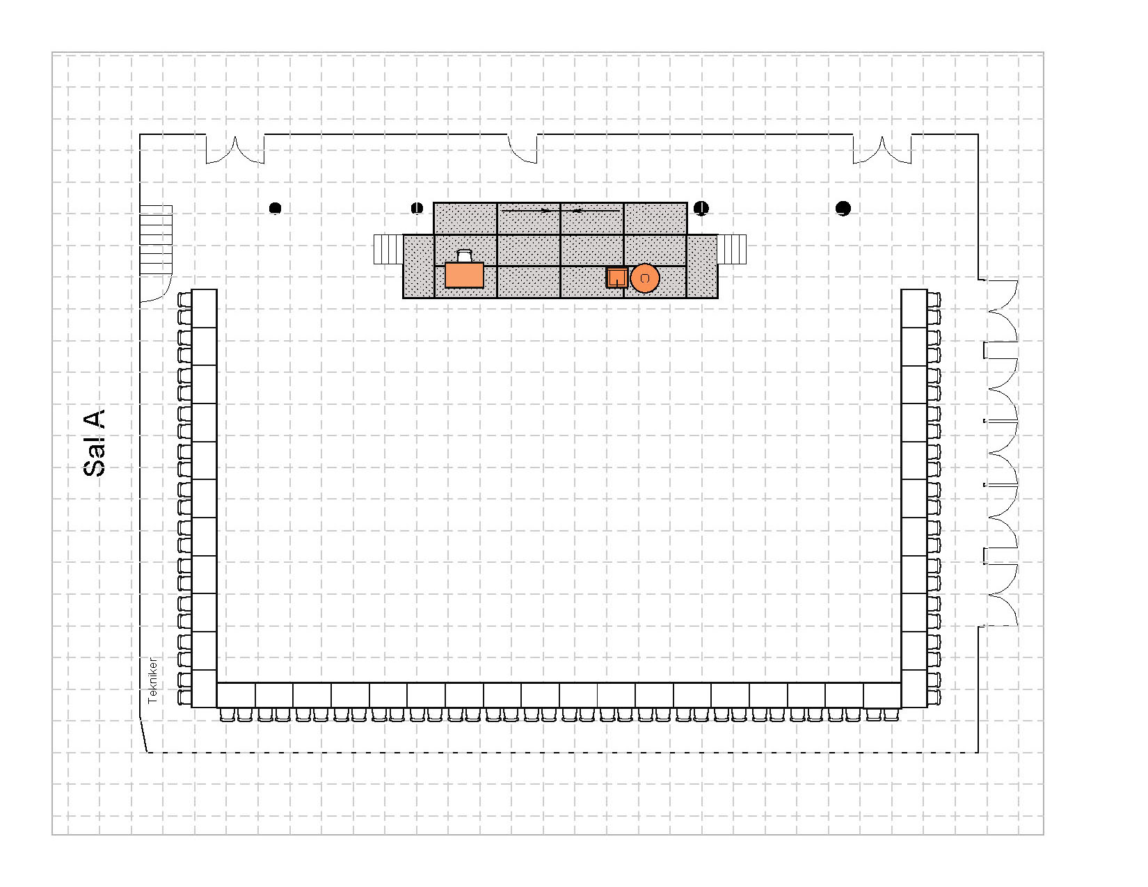 U- bord 80 plasser